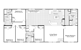 Home Floor Plans The Benbrook 5 Extra Wide Ml34765b Manufactured Home Floor Plan Or