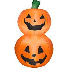 3 5 tall pumpkin duo stack halloween airblown inflatable frozen