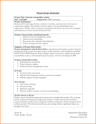 outage report template 11 project scope statement example letter template word project scope statement example 6077902 png