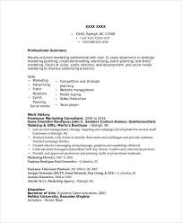 marketing resume examples 47 free word pdf documents download