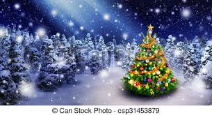 snowy christmas pictures christmas tree in snowy night magnificent colorful picture