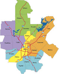 counties map atlanta metro counties cities map knowatlanta