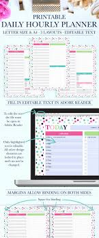 printable hourly planner daily schedule hourly beautiful hourly schedule printable hourly