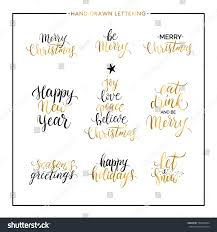 new year phrases quotes merry stock vector 532669984