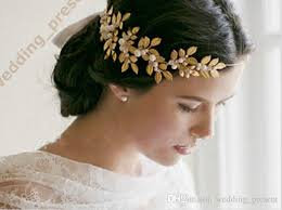 headpieces online 2015 new coming shiny gold leaves bridal tiaras hair accessories