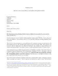 Termination Letter Template Contract Termination Letter Format Best Template Collection