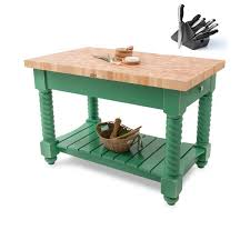 john boos butcher block table john boos 54x32 tuscan isle clover green butcher block table