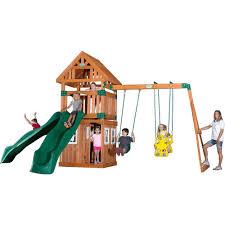 backyard discovery liberty ii all cedar playset 44215com the