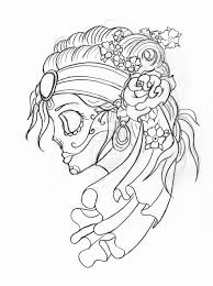 skulls drawings gypsy candy skull with flowers by green2106 on
