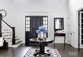 White Foyer Table Contemporary White Foyer With Antique Center Table Luxe