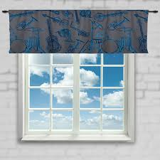 Soccer Curtains Valance Musical Instruments Window Curtain Or Valance Custom Made