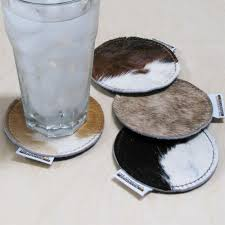 sunland home decor coupon genuine cowhide coasters set of 4 item 328200