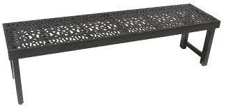 Aluminum Patio Table by Elisabeth Cast Aluminum Outdoor Patio 7pc Bench Series 2000