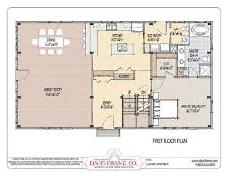 Pole Barn With Apartment Plans Floor Plan Pre Designed Great Plains Eastern Horse Barn Home Kit
