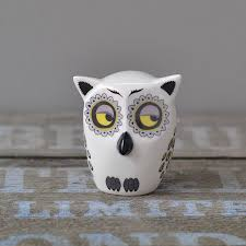 handmade ceramic owl ornament turner
