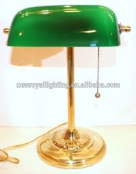 table lamp emerald green glass solid brass stand vintage wholesale