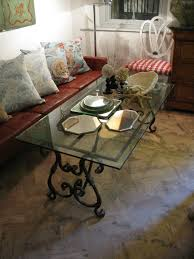 coffee table in spanish mid 20th cent iron and glass coffee table in the spanish taste