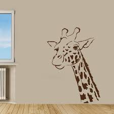 giraffe wall decor sticker giraffe wall decals download