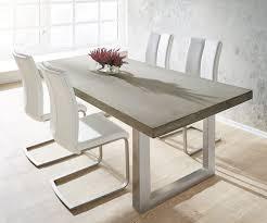 Esszimmertisch Tisch Esstisch Zement 200x100 Grau Beton Optik Gestell Breit Möbel