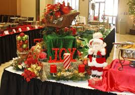 Buffet Table Decor by Christmas Party Buffet Table Decorations