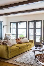 Vintage Living Room Ideas Impressive Vintage Living Room Ideas With Big Yellow Sofa On Large