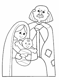 holy family coloring free download