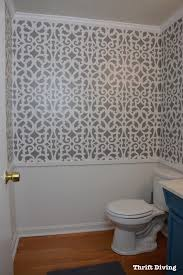 Trellis Wall Stencil My Colorful Gray Bathroom Makeover With A Wall Stencil