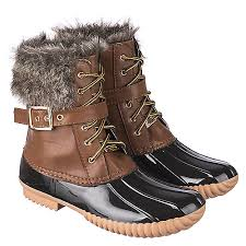 womens leather boots s leather fur boot duck 01 camel shiekh shoes