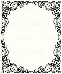 drawing frame ornament stock vector 92896547 istock