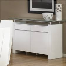 Glass Buffet Furniture by Tiffany Crackled Glass Buffet Modern Furniture Cleveland