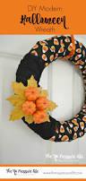 make it diy modern halloween wreath in 15 minutes modern