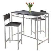 high table with stools amazon com winsome hanley 3 piece high table with 2 high back