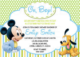 mickey mouse baby shower invitations disney baby mickey mouse inspired baby shower or birthday