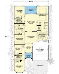narrow floor plans and narrow 32220aa architectural designs house plans