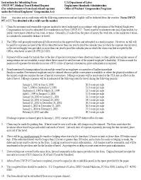 Sle Of Authorization Letter For Certification Of Employment U S Department Of Labor Office Of Workers U0027 Compensation