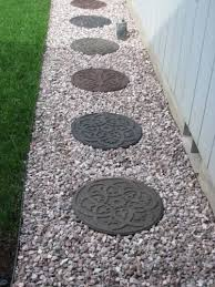 Home Depot Concrete Patio Blocks by Envirotile Reversible Scroll 18 In X 18 In Round Rubber Earth