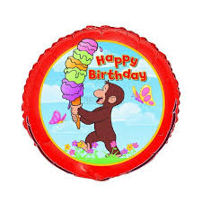 deliver balloons nyc birthday balloons 18in curious george happy birthday