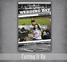 Fun Wedding Programs Baseball Wedding Program Fun Wedding Programs Baseball Wedding