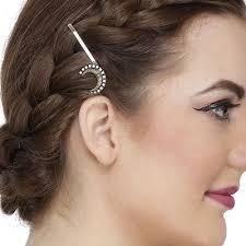 designer hair accessories anuradha golden finish heart shape wonderful designer hair