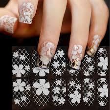 aliexpress com buy 3d white transparent lace nail rhinestone
