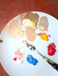 an easy method for mixing paint for skin tones paintings