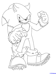 sonic the werehog coloring pages coloring download sonic unleashed