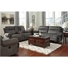 signature design by ashley austere gray 2 seat reclining sofa