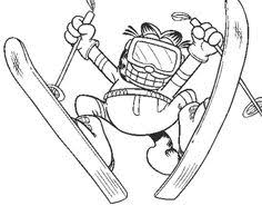 garfield color page cartoon characters coloring pages color