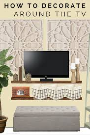 creative ways to decorate around the tv living room pinterest