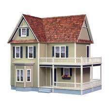 Wrap Around Porch Cost by Victoria U0027s Farmhouse Dollhouse Kit Has A Beautiful 2 Story