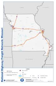 missouri map cities national highway freight network map and tables for missouri