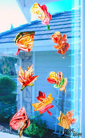 96 best crafty dementia activities images on pinterest dementia contact paper window stickers fall leaves