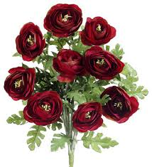 Silk Flower Plants - silk plants direct ranunculus bush pack of 12 traditional