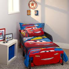 Cars Bedroom Set Toddler Disney Pixar Cars 3 Rust Eze Racing Team 4 Piece Toddler Bed Set